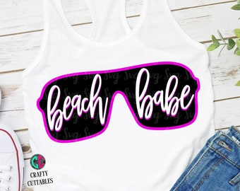 Beach Babe svg,Summertime svg,summer svg,girl svg,preppy svg,sunglasses svg,Summer Svg Designs, Summer Cut File, cricut svg