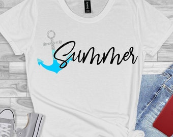 ombre anchor svg,beach svg,anchorsvg, summer svg, summertime svg,beach life svg, Summer Svg Designs, Summer Cut File, cricut svg