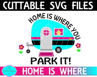 Camper SVG, PNG Files Silhouette Cameo and Cricut Files