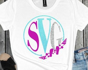 beach monogram svg, beach svg, monogram svg, beachy svg, vacation svg, tshirt,Summer Svg Designs, Summer Cut File, cricut svg