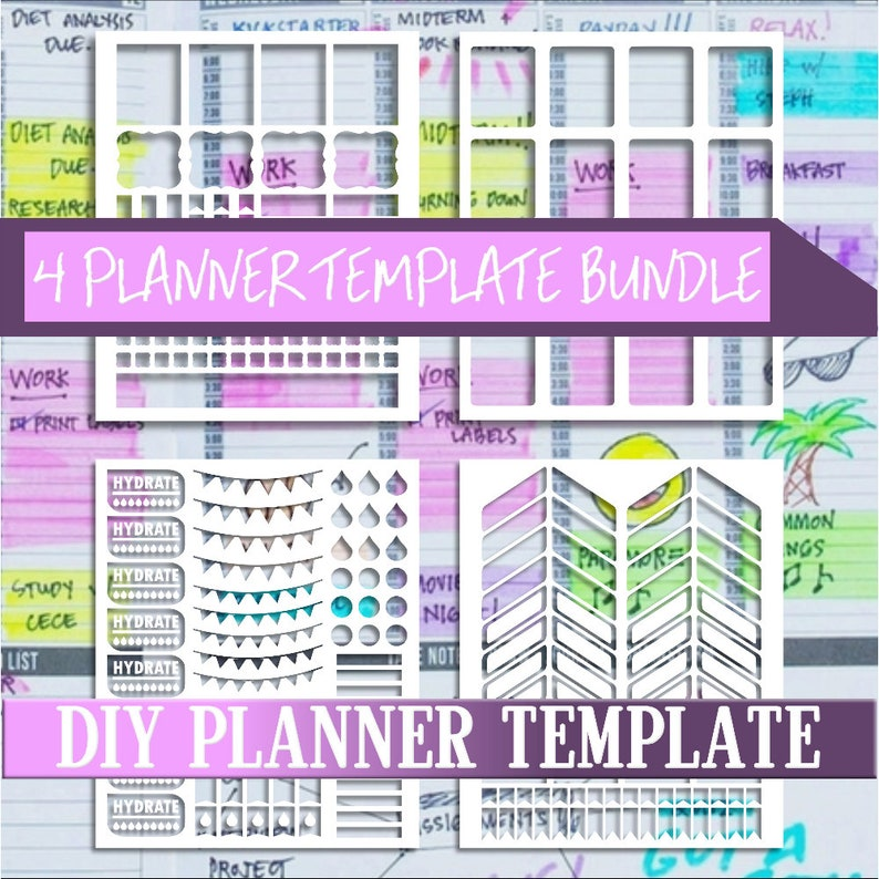 photograph relating to Diy Planner Templates called Package deal sale,Planner stickers templates Do it yourself package, lifestyle planner template, professional retain the services of, instantaneous obtain,Cricut Programs,Silhouette Models