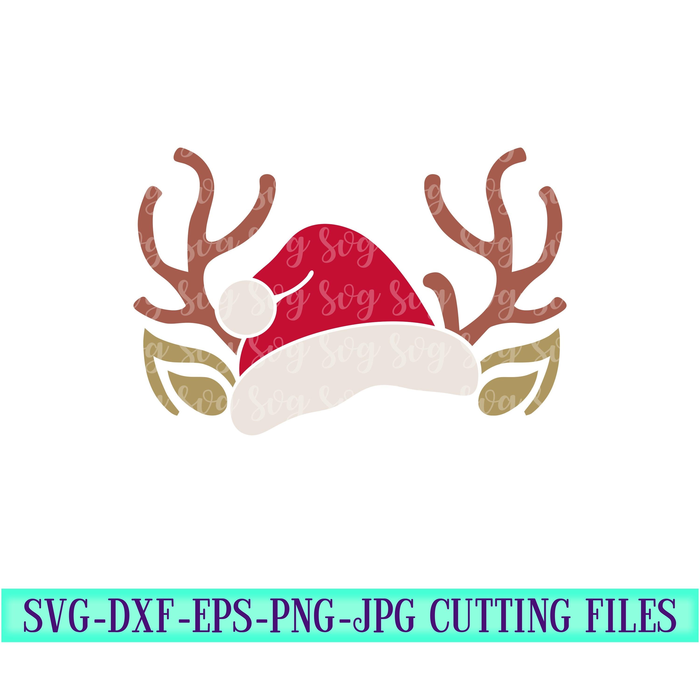 Santa Antlers Svg Reindeer Antler Svg Santa Hat Svg Christmas Svg Christmas Svg Designs Christmas Cut File Svg For Cricut Svg For Mobile