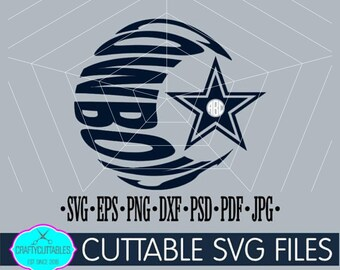 Cowboys SVG, PNG Files Silhouette Cameo and Cricut Files