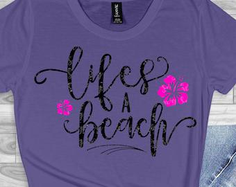 lifes a beach svg,beach svg, palm tree svg, summer svg, summertime svg,Summer Svg Designs, Summer Cut File, cricut svg