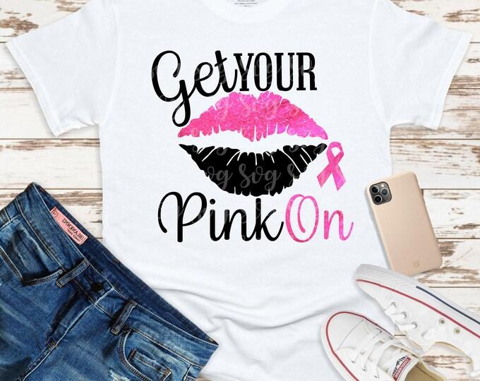 Featured listing image: breast cancer svg, lips cancer ribbon svg, cancer survivor, awareness ribbon svg, cancer svg, get your pink on svg,cricut svg
