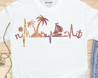 vacation heartbeat svg,Beach svg,Rope svg,nautical svg,summer svg,Anchor rope svg,tshirt svg,Summer Svg Designs, Summer Cut File, cricut svg
