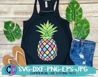Summer svg, Pineapple Svg, Summer Clipart, Vacation Svg, Beach Svg, Colorful Pineapple svg, Summer svg design,Summer cut file, Summer cricut