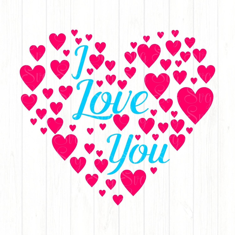I Love You Hearts Svg Valentine Svg Couples Svg Love Svg Valentine Heart Svg Tshirt Svg Valentine Love Svg Cricut Design Silhouette Design