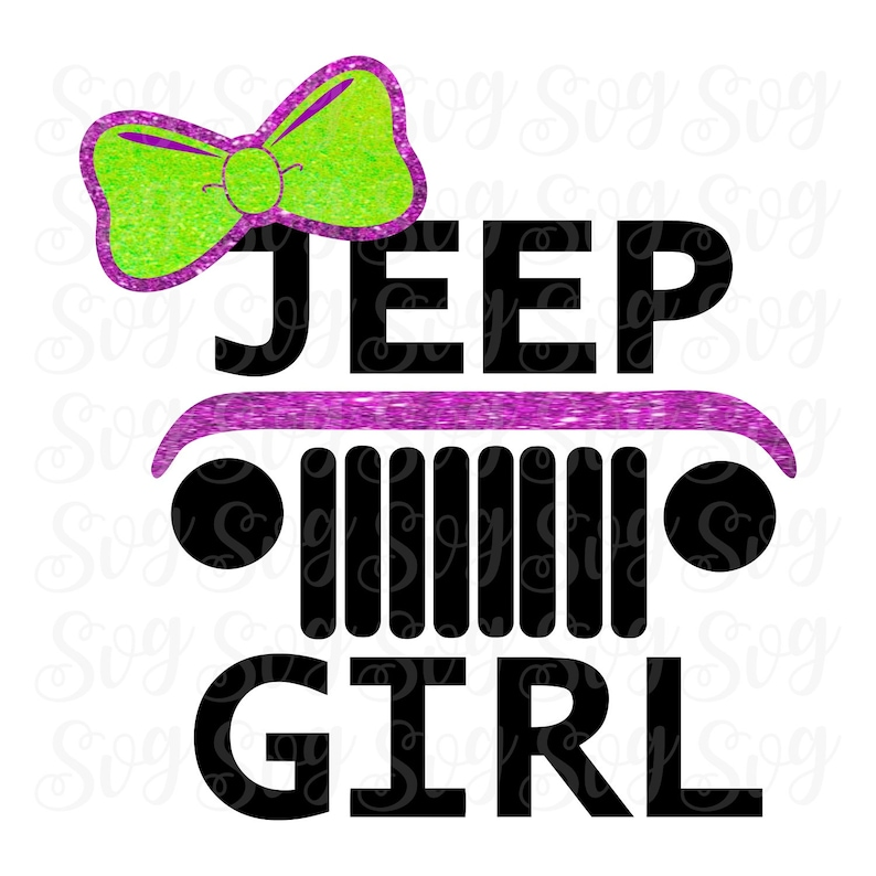 Jeep Girl Grill With Bow Svgsjeep Girl Svg Filesjeep Etsy