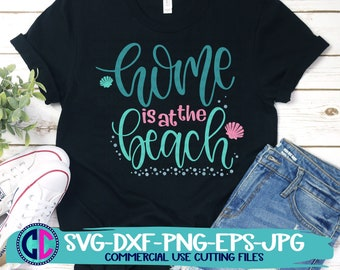 Summer Svg, Home is at the beach svg, vacation svg, beach svg, summertime svg, Summer svg design, Summer cut file, Summer cricut