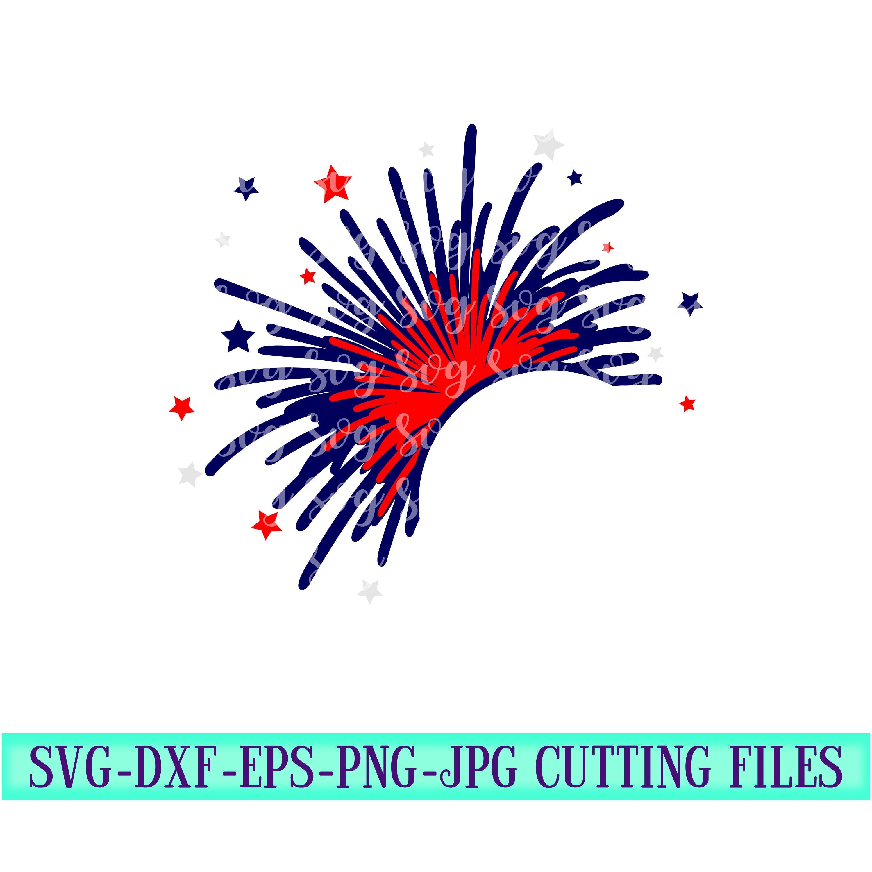 Fireworks Monogram Svg July Fourth Svg Fireworks Monogram Firework Svg 4th Of July America Cut File Cricut Svg Svg For Mobile Mobile Svg