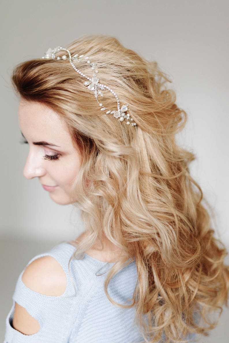 Crystal Bridal Tiara Rhinestones hair piece Bridal Hair Piece,Bridal Headpiece Wedding Headpiece Wedding Halo,Jewelry Wedding Hairpiece