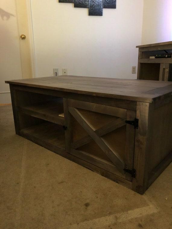 Barn Style Coffee Table Etsy