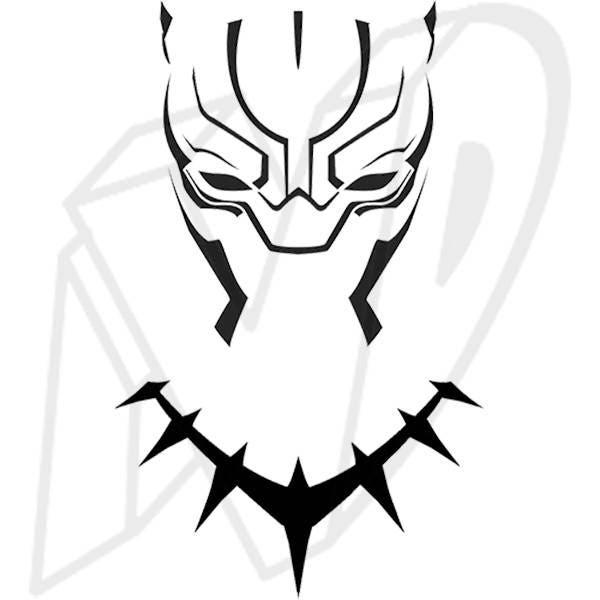 Black Panther Mask Decal Black Panther Decal Wakanda | Etsy