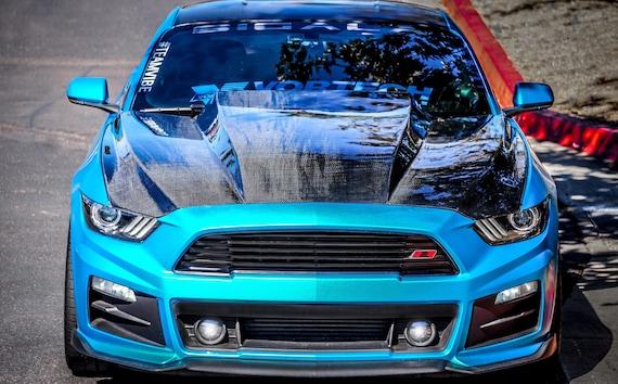 2015 2017 Mustang Carbon Fiber 4 Cowl Hood Etsy