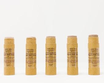 Organic BB Cream - Zero Waste Natural Makeup - Gluten Free - Moisturizing Tinted Sunscreen - Max SPF - Evens Skin Tone - Eco Friendly - Zinc