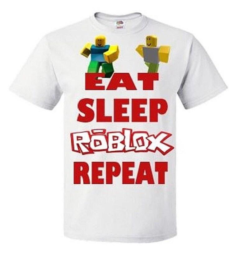 b27bc747 PERSONALISED Eat Sleep Repeat Roblox T Shirt | Etsy