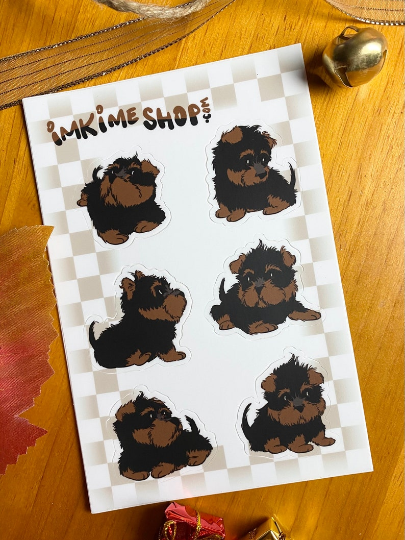 VINYL  Terriers Cute Puppy Stickers image 0