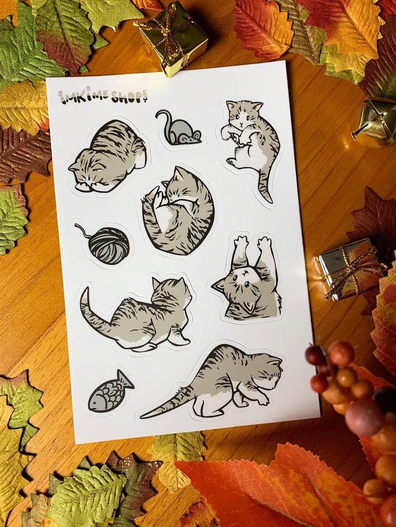 Tabbies  Cute Animal Stickers Vinyl