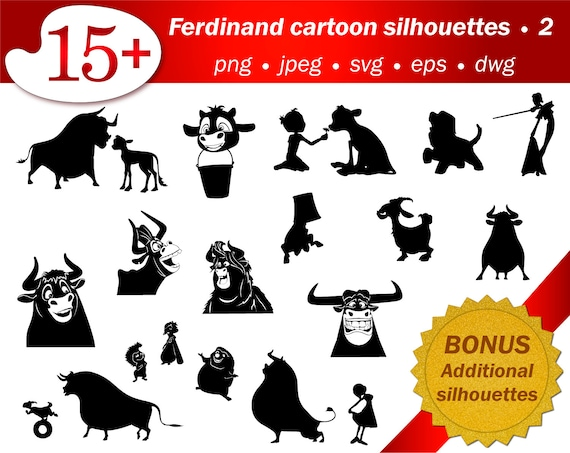 Ferdinand Bull Svg Silhouette Laser Cutting Vector Files Etsy