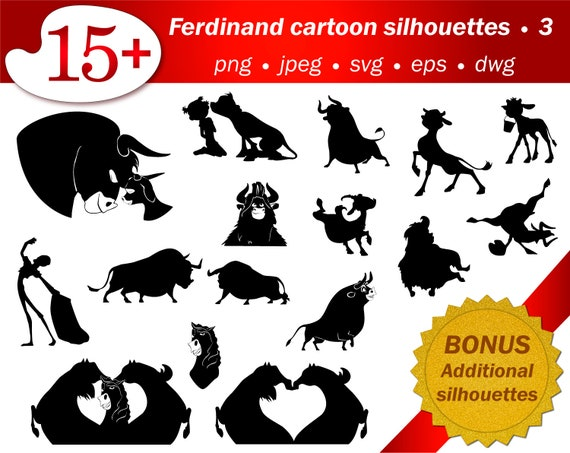 Svg Laser Cut Vector Stencil Files Of Ferdinand Cartoon Etsy