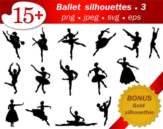 Ballet people SVG stencil template cutting ballerina silhouette ...
