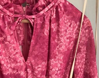 Eleanor: Vintage Floral Plum Dress | Long-Sleeve Dress | Spring Dress | Wedding | Boho | Bohemian | Purple | Pink