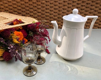 Joshua Crabtree Tall White Teapot and Lid | Home Decor | Kitchen | Dining