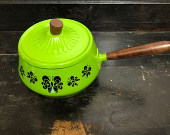Retro Green Fondue Pot
