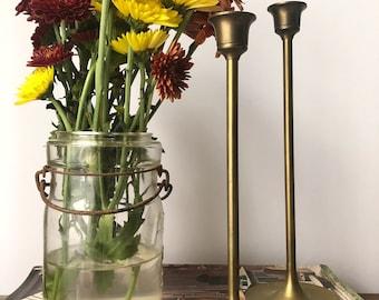 Vintage Brass Candlesticks | Home Decor | Brass | Candles | Vintage Home | Holiday Decor
