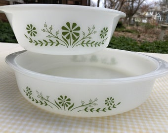 Retro Glasbake Set of 2 Oven Proof Casserole Dishes | Kitchen | Dining | Serving | Vintage | Cookware