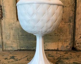 Milk Glass Pedestal Centerpiece