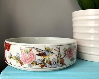 Small Asian Dish | Serving Bowl | Oriental Bowl | Decorative Dish | Floral Asian | Bird Design