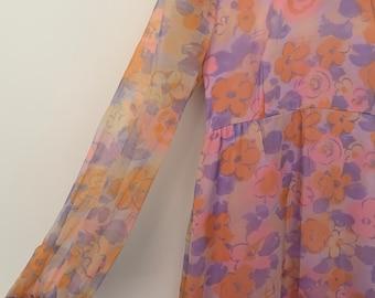 1970s Dress | Vintage Floral Dress | Maxi