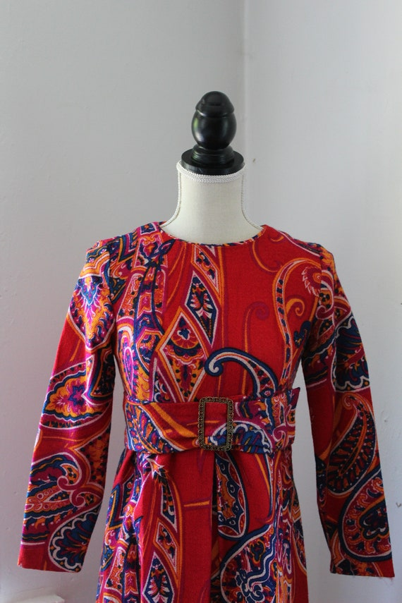 60s Psychedelic Mini Dress - image 2