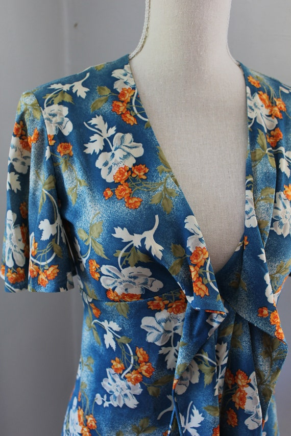 70s South Pacific Matching Two Piece Playsuit - image 4
