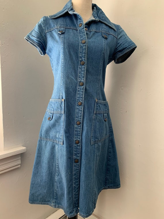 70s Landlubber Denim Dress
