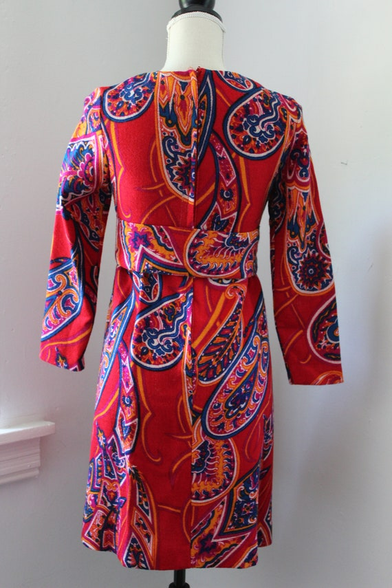 60s Psychedelic Mini Dress - image 5