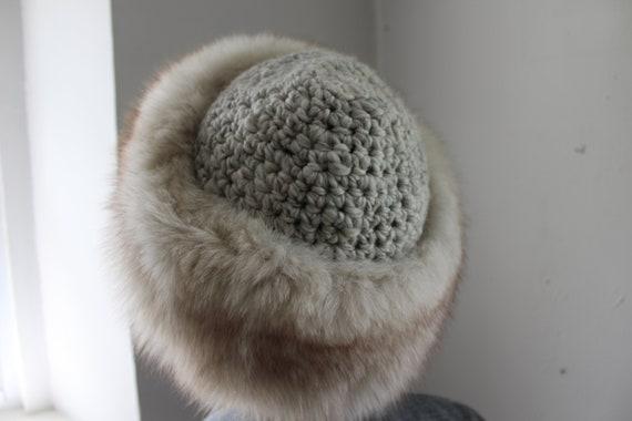 70s White Fox Fur Hat