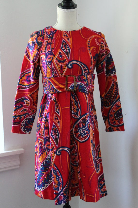 60s Psychedelic Mini Dress - image 1