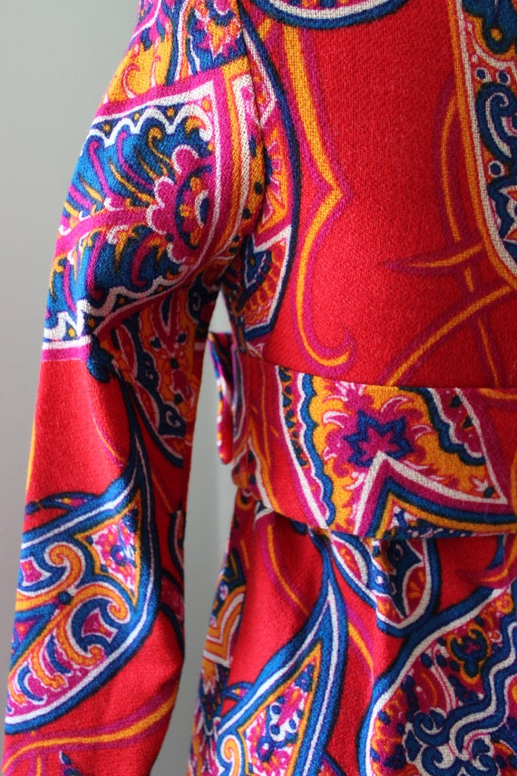 60s Psychedelic Mini Dress - image 7