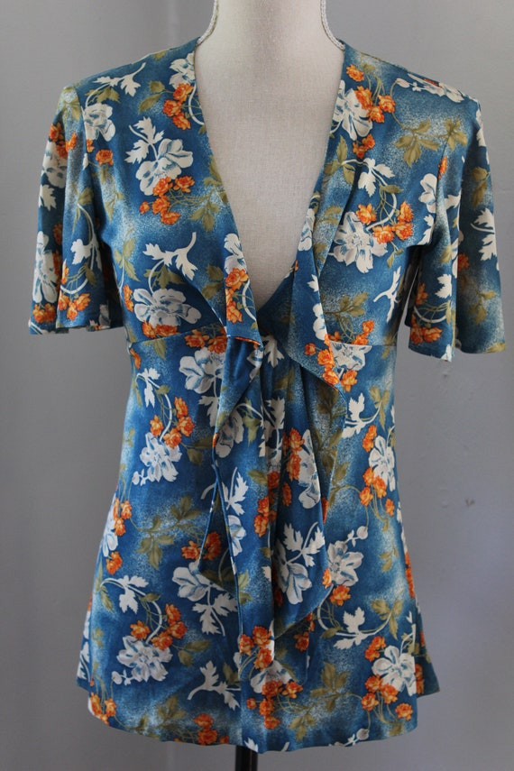 70s South Pacific Matching Two Piece Playsuit - image 3