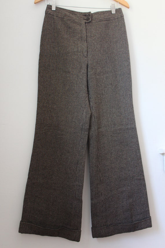 70s Wool Plaid Trousers