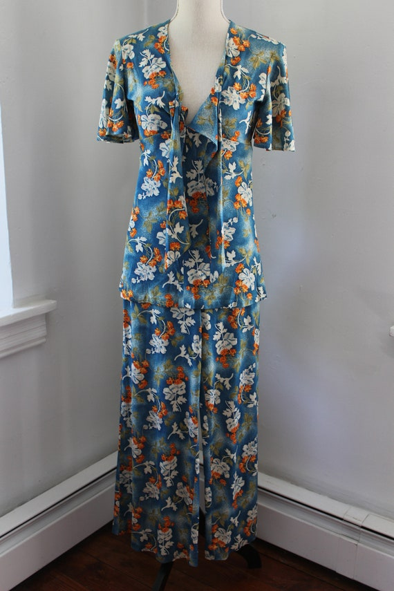 70s South Pacific Matching Two Piece Playsuit - image 7
