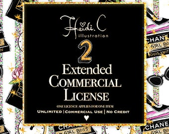 2 Extended Commercial license Bundle |No credit required|
