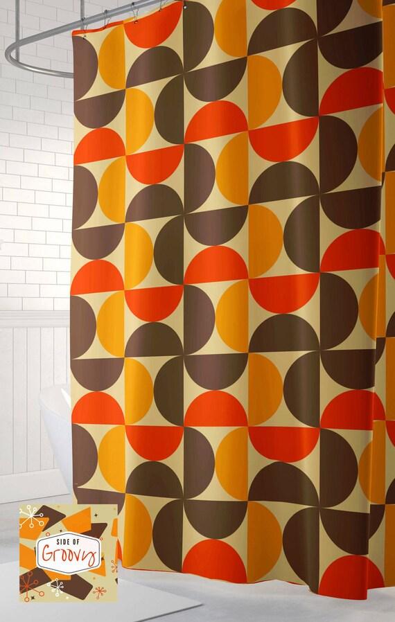 Retro Shower Curtain 70s Cool