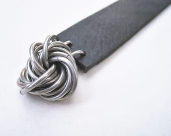 Leather & Metal Bookmark Fidget
