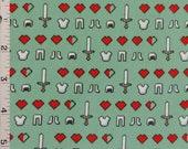 Minecraft Icons Cotton Fabric Springs Creative Mojang Tools Hearts Health Armor