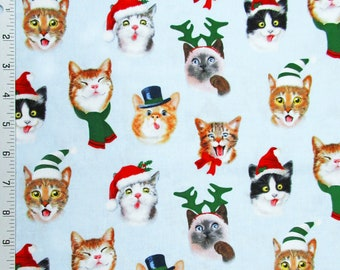 Tom cat 100/% Cotton Fabric Half YARD ginger cats kitten animal quilting JC10//31+