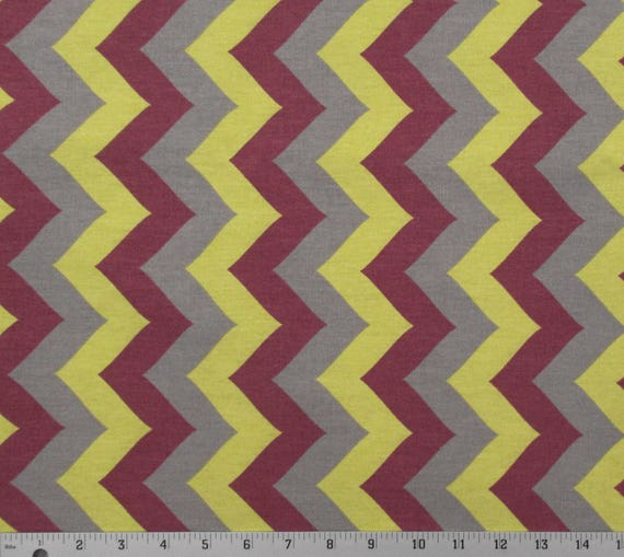 NEW ZIG ZAG chevron multi yellow blue red fabric 100/% COTTON quilting sewing NEW